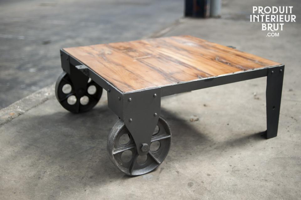 La table Railway : une originale table basse d'inspiration industrielle…