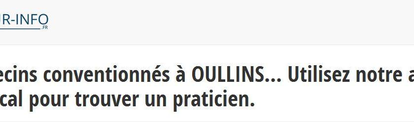Les coordonnées des médecins d'Oullins sont à retrouver sur docteur-info.fr