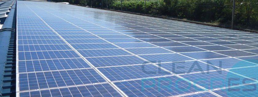 Clean Progress a une forte expérience pour le nettoyage des fermes photovoltaïques