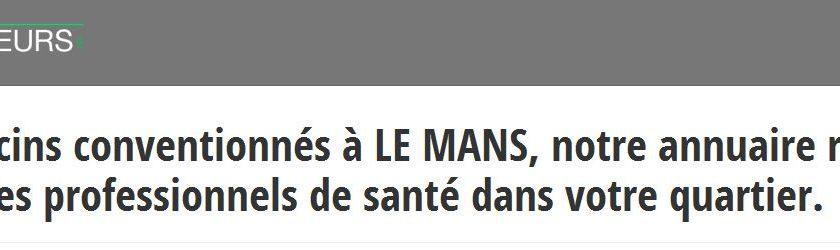 Les infos à jour sur les médecins du Mans sont à retrouver sur Les-docteurs.fr