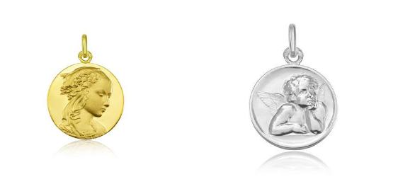 medailles bapteme vierge et ange de raphael - arthus-bertrand